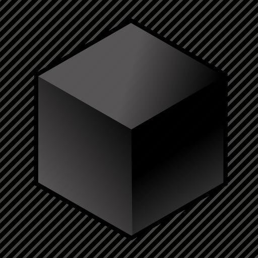 c, carbon, chemical element, coal, cube, dark, graphite icon