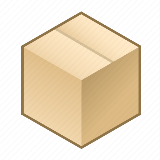 box, cardboard, closed, cube, pack, packed, packing icon