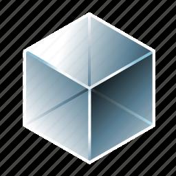 amorphous solid, aquarium, blue, crystal, cube, glass, transparent icon