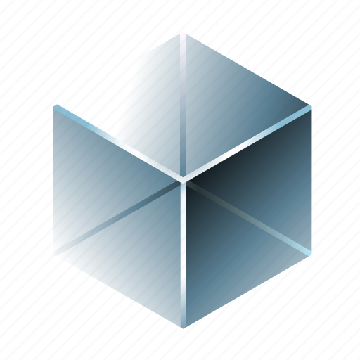 amorphous solid, aquarium, blue, crystal, cube, glass, transparent icon