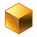 au, bar, chemical, cube, gold, metal, shine icon