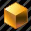 au, bar, chemical, cube, gold, metal, shine icon