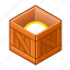box, cube, item, new, open, wood, wooden icon