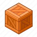 box, cube, load, new, pack, wood, wooden icon