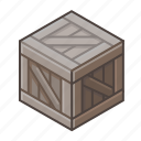 box, copy, cube, old, pack, wood, wooden icon