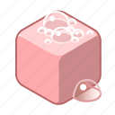 pink, cube, washing, wash, cleaning, clean, soap