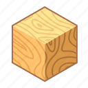 block, cube, jar, wood, wooden, wooden block, yellow icon
