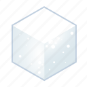 cube, food, salt, salty, sugar cake, suggar, white icon