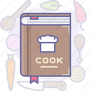 cook, cookery book, cooking, culinarium, food, kitchen, meal icon