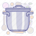 cook, cooking, culinarium, food, kitchen, lid, pot icon