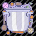 cook, cooking, culinarium, food, kitchen, lid, pot