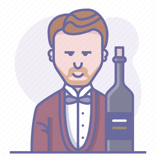 bottle, cooking, culinarium, operator, restaurant, sommelier, wine icon