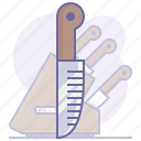 blade, cook, cooking, culinarium, kitchen, knife, set icon