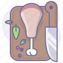 cook, cooking, culinarium, food, kitchen, knife, meat icon