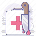 blood, cooking, culinarium, help, kitchen, knife, treatment icon