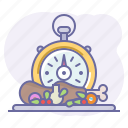 cook, cooking, culinarium, fast food, food, stopwatch, time icon