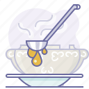 cook, cooking, culinarium, food, kitchen, scoop, soup icon