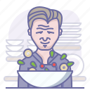 chef, cooking, culinarium, gordon ramsay, kitchen, restaurant, salad icon