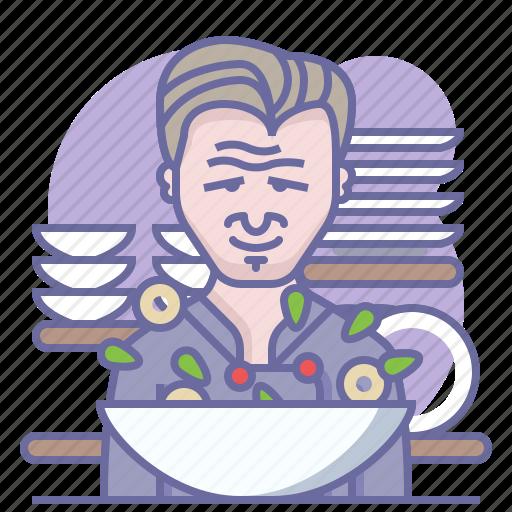 chef, cooking, culinarium, gordon ramsay, kitchen, restaurant, salad icon