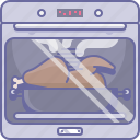bake, chicken, cooking, culinarium, food, oven, roast icon
