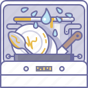 cooking, culinarium, dirty, dishes, dishwasher, food, kitchen icon