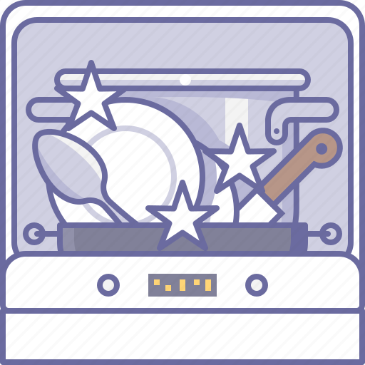 clean, cooking, culinarium, dishes, dishwasher, kitchen, shine icon