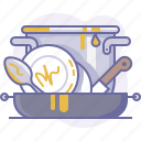 cooking, cookware, culinarium, dirty, dishes, food, kitchen icon