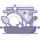 clean, cooking, cookware, culinarium, dishes, food, kitchen icon