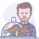 cooking, culinarium, eating, food, meal, restaurant, waiter icon