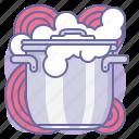 cooker, cooking, culinarium, foam, kitchen, lid, pot