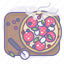 cooking, culinarium, eating, food, meal, pizza, pizzeria