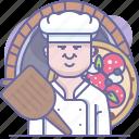 bake, chef, cooking, culinarium, food, pizza, pizzeria