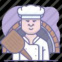 bake, baker, chef, cooking, culinarium, pizza, pizzeria