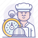 chef, cooking, culinarium, fastfood, food, stopwatch, time icon