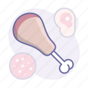 cooking, culinarium, food, kitchen, leg, meal, meat icon