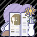 culinarium, eating, food, gastronomy, menu, restaurant, table icon