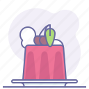 cake, cooking, culinarium, food, jelly, patisserie, restaurant icon