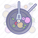 cooking, culinarium, food, kitchen, meal, pan, restaurant icon