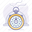 cooking, culinarium, fastfood, food, restaurant, stopwatch, time icon