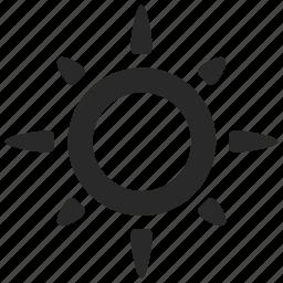 full sun, hot, solar, sun, sunny, warm, weather icon