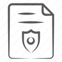 file protection, file security, private file, safe document, secure document icon