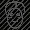 khanda, male, man, punjabi man, religious person, sikh, traditional avatar icon