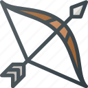 arrow, bow, civilization, community, culture, indian, nation icon