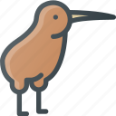 bird, civilization, community, culture, kiwi, nation, new zeland icon