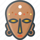 african, civilization, communities, community, culture, mask, nation icon