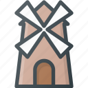 civilization, communities, culture, mill, nation, netherland, wind icon