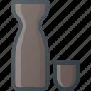 bottle, chinese, community, culture, glasses, nation, sake icon