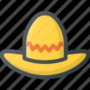 civilization, communities, community, culture, mexican, nation, sombrero icon
