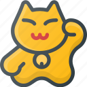 cat, chinese, civilization, community, culture, nation, waving icon