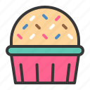 baked, bakery, cake, cupcake, dessert, food, muffin, sweets icon